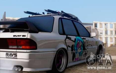 Mitsubishi Galant 1992 pour GTA San Andreas sur la vue arrière gauche