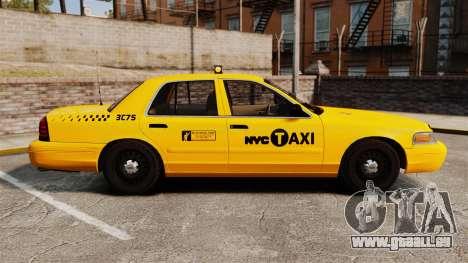Ford Crown Victoria 1999 NYC Taxi pour GTA 4 est une gauche