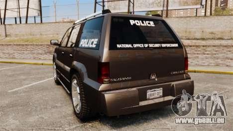 Cavalcade Police pour GTA 4 Vue arrière de la gauche