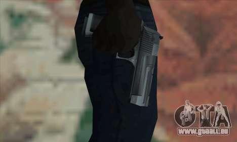 Desert Eagle Silver pour GTA San Andreas troisième écran