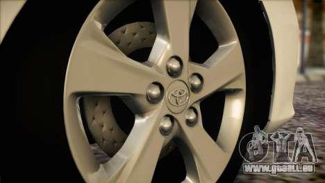 Toyota Corolla 2012 pour GTA San Andreas vue arrière