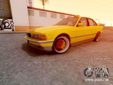 BMW 730i pour GTA San Andreas laissé vue