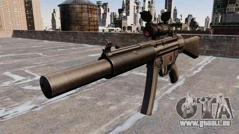 Pistolet mitrailleur HK MP5SD2 pour GTA 4