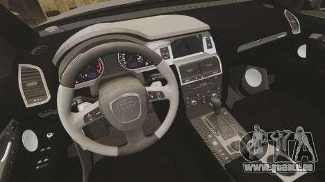 Audi Q7 Metropolitan Police [ELS] pour GTA 4 est une vue de l'intérieur