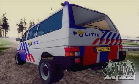 Volkswagen T4 Politie pour GTA San Andreas vue de droite