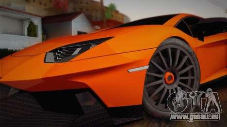 Lamborghini Aventador LP 700-4 RENM Tuning pour GTA San Andreas sur la vue arrière gauche