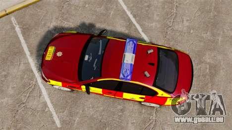 BMW M5 West Midlands Fire Service [ELS] für GTA 4 rechte Ansicht
