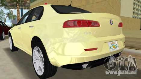 Alfa Romeo 159 ti pour GTA Vice City sur la vue arrière gauche