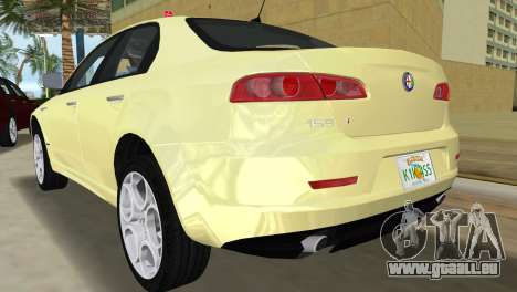 Alfa Romeo 159 ti für GTA Vice City zurück linke Ansicht