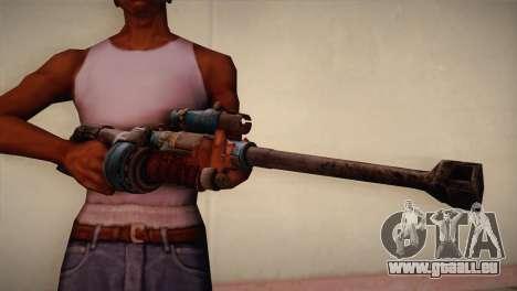 Fusil de sniper de Bulletstorm pour GTA San Andreas troisième écran