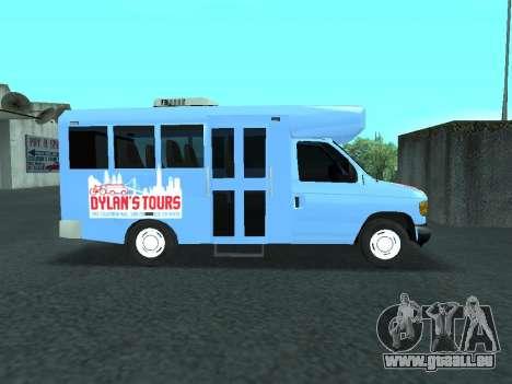 Ford Shuttle Bus für GTA San Andreas Rückansicht