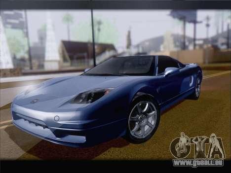 Acura NSX für GTA San Andreas Rückansicht