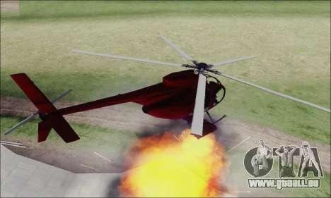 Bussard Angriff Hubschrauber von GTA 5 für GTA San Andreas Rückansicht