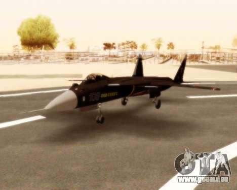 Su-47 Berkut v1.0 pour GTA San Andreas laissé vue