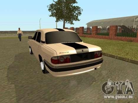 GAZ Volga 31105 pour GTA San Andreas vue de droite