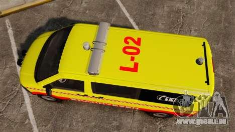 Volkswagen Transporter T5 2010 [ELS] pour GTA 4 est un droit