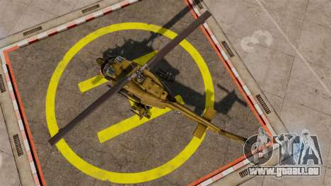 Bell UH-1 Iroquois v2.0 Gunship [EPM] für GTA 4 rechte Ansicht