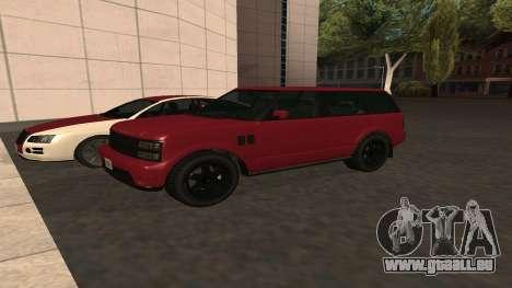 Baller GTA 5 pour GTA San Andreas vue intérieure