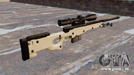 Fusil de sniper AW L115A1 pour GTA 4 secondes d'écran