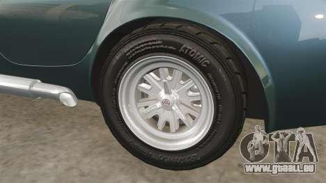 Shelby Cobra 427 SC 1965 pour GTA 4 vue de dessus