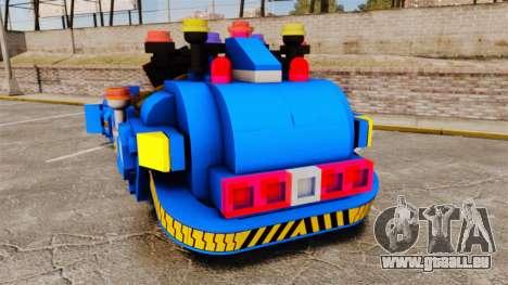 Lego Car Blade Runner Spinner [ELS] pour GTA 4 Vue arrière de la gauche