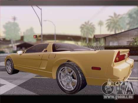 Acura NSX für GTA San Andreas Unteransicht
