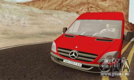 Mersedes-Benz Sprinter für GTA San Andreas rechten Ansicht