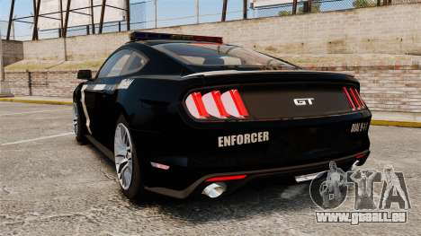 Ford Mustang GT 2015 Police für GTA 4 hinten links Ansicht