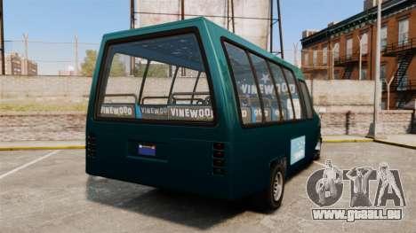 GTA V Brute Tour Bus für GTA 4 hinten links Ansicht