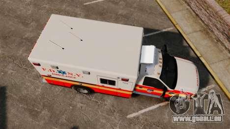 Ford F-350 FDNY Ambulance [ELS] für GTA 4 rechte Ansicht