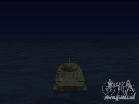 PT-76 pour GTA San Andreas vue intérieure
