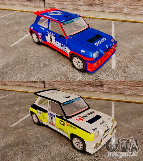 Renault 5 Turbo Maxi pour GTA 4 Vue arrière