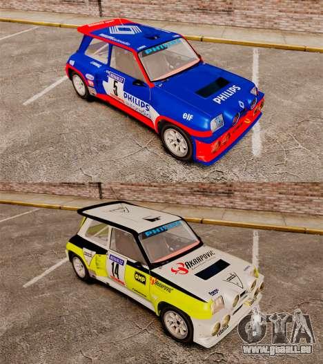 Renault 5 Turbo Maxi für GTA 4 Rückansicht