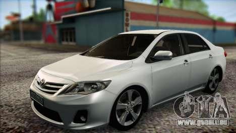 Toyota Corolla 2012 für GTA San Andreas