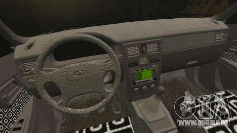 VAZ-2170 Lada Priora Turbo für GTA 4 obere Ansicht