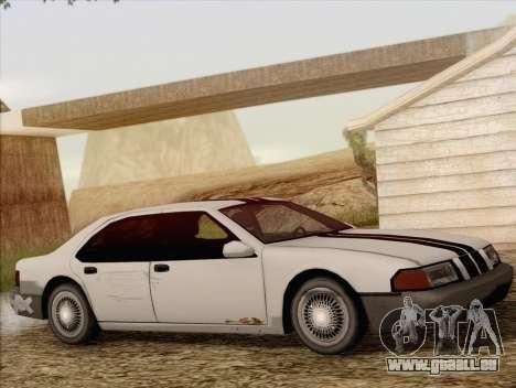 Fortune Sedan für GTA San Andreas Rückansicht