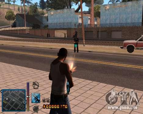 C-HUD by Mike Renaissance pour GTA San Andreas deuxième écran