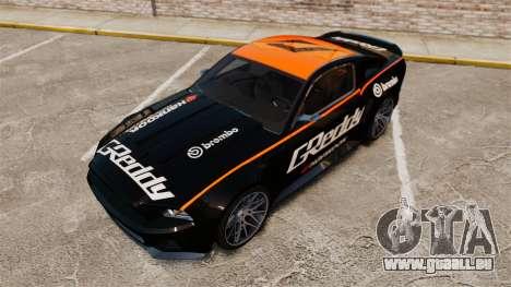 Ford Mustang GT 2013 NFS Edition pour GTA 4 est une vue de dessous