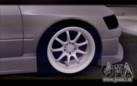 Mitsubishi Lancer Evolution Stance für GTA San Andreas zurück linke Ansicht