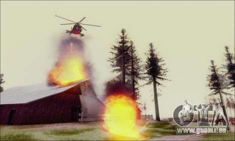 Buse attaque Chopper de GTA 5 pour GTA San Andreas vue intérieure