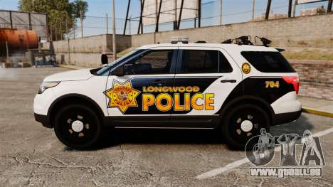 Ford Explorer 2013 Longwood Police [ELS] pour GTA 4 est une gauche