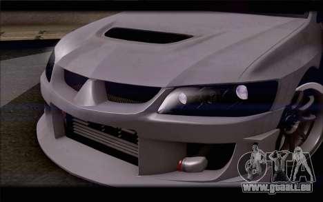 Mitsubishi Lancer Evolution Stance für GTA San Andreas Innenansicht