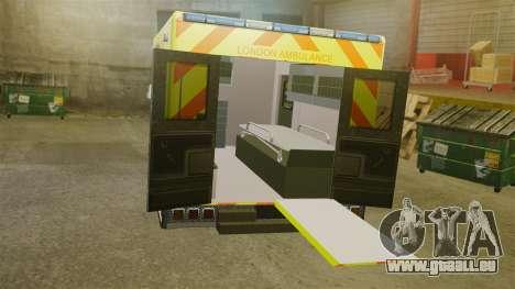 Mercedes-Benz Sprinter [ELS] London Ambulance pour GTA 4 est une vue de l'intérieur