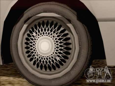 Fortune Sedan pour GTA San Andreas sur la vue arrière gauche
