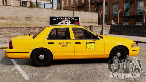 Ford Crown Victoria 1999 NY Old Taxi Design pour GTA 4 est une gauche