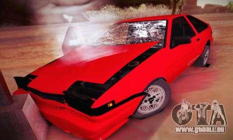 Toyota Corolla GT-S 1985 pour GTA San Andreas vue de dessous