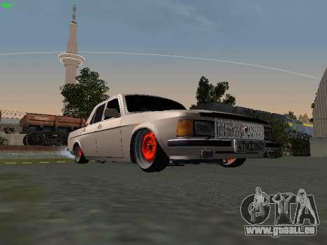 GAZ 3102 Stance pour GTA San Andreas sur la vue arrière gauche