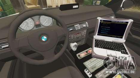 BMW 330i Hampshire Police [ELS] pour GTA 4 Vue arrière