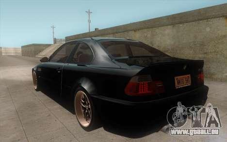BMW M3 e46 Duocolor Edit pour GTA San Andreas vue de droite