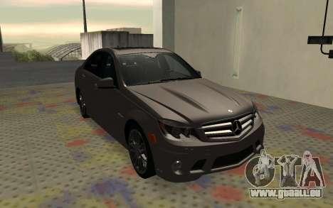 Mercedes-Benz C63 AMG für GTA San Andreas rechten Ansicht
